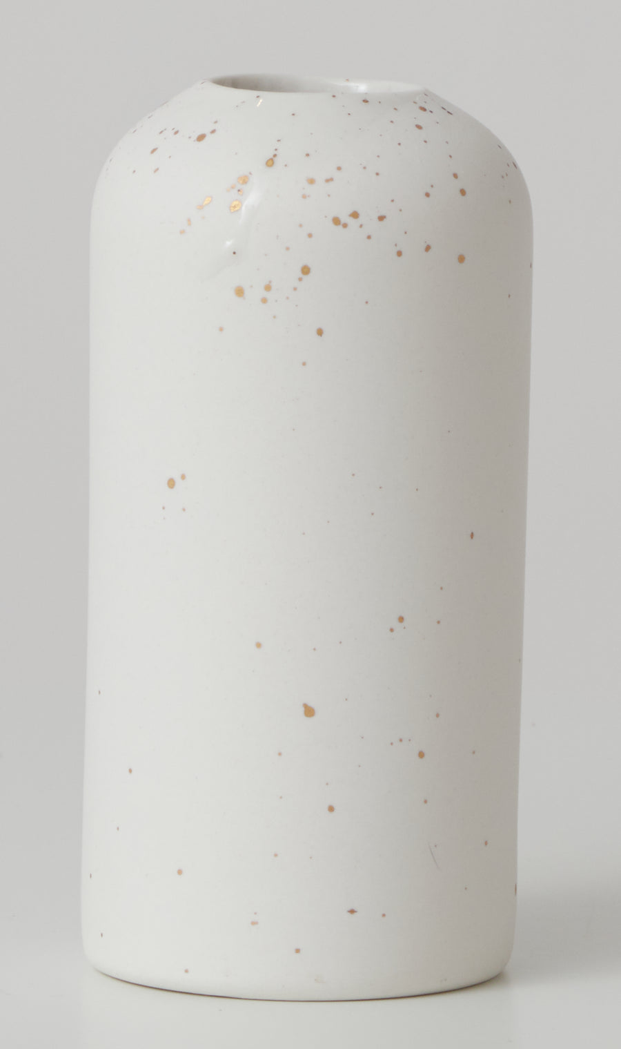 Medium Porcelain Vase with Gold Splatter
