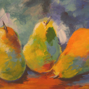 ECLECTIC PEARS / Original Canvas Painting - By Randa Hanala