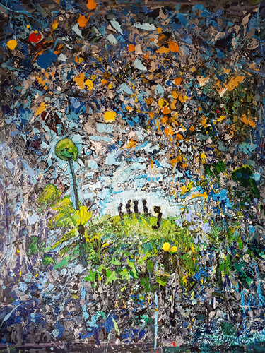SOLDIERS IN THE RANKS -Soldats Dans Les Rangs / Original Canvas Painting- By Eric Deshaies