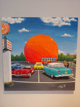 Load image into Gallery viewer, MONTREAL'S ORANGE JULEP / Original Canvas Painting - By Andy Habib