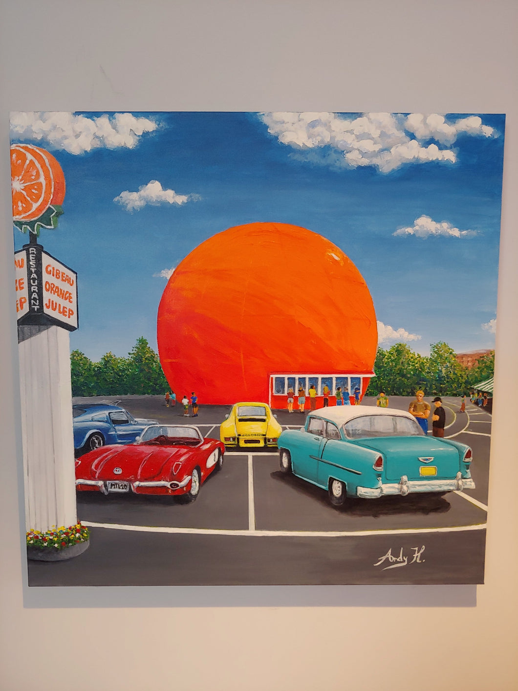 MONTREAL'S ORANGE JULEP / Original Canvas Painting - By Andy Habib