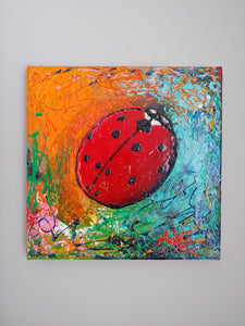 The LADYBUG / Original Canvas Painting - By Andy Habib