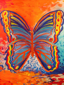 SPRING BUTTERFLY by Canadian artist, Andy Habib, acrylic on gallery wrapped canvas, $228 cdn. Available on www.kikisterlinggallery.com