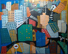 Load image into Gallery viewer, URBAN CHAOS/ CAOS URBANO /  Original Canvas Painting - By Antonio Souza