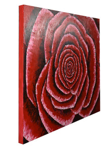 RED ROSE / Original Canvas Painting  - By Andy Habib