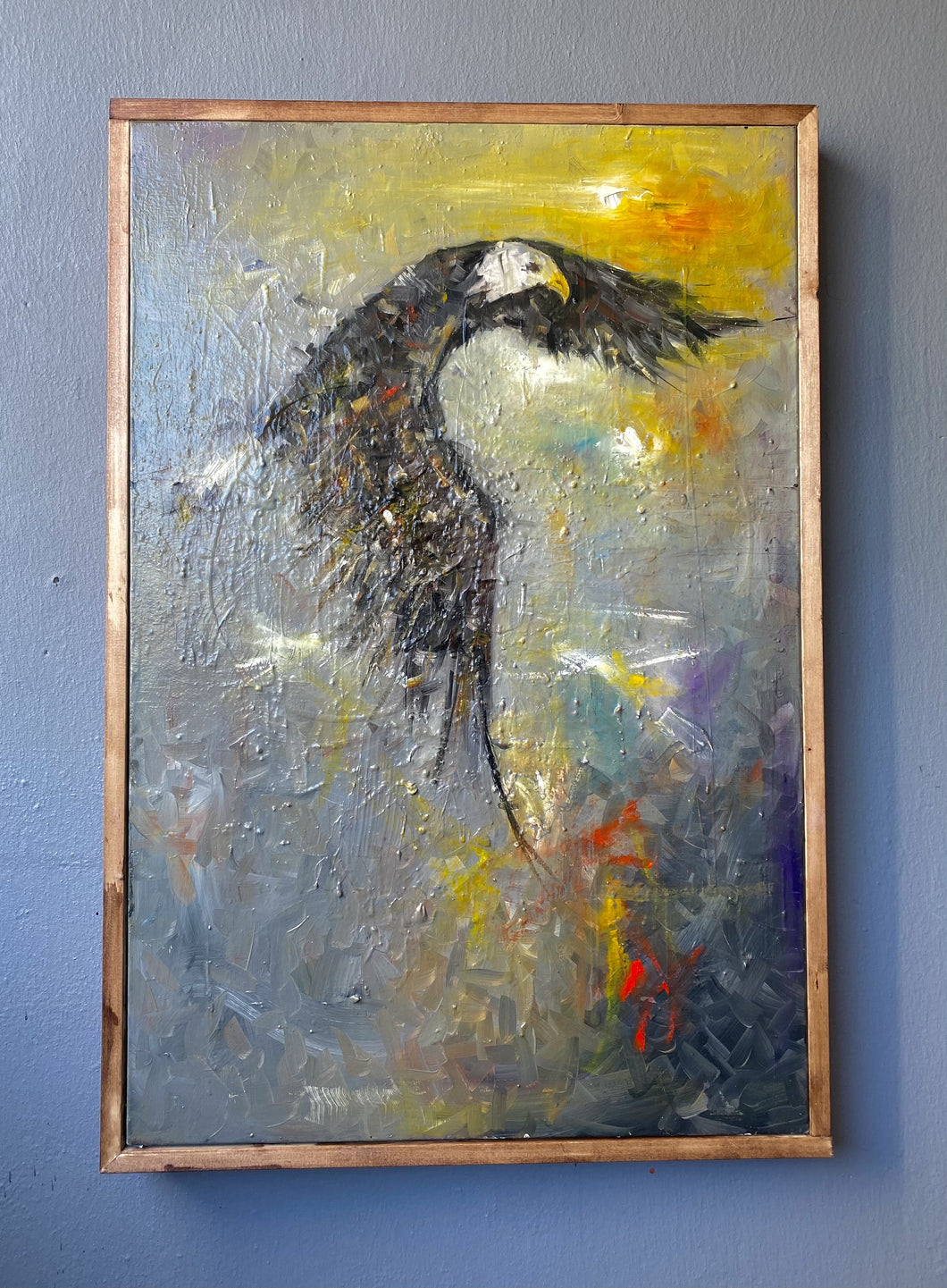 EAGLE /  Original Canvas Painting - By Moses Salihou