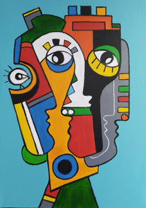 FRIENDS 4 - EXCLUSIVE TO KIKI STERLING GALLERY - FACES COLLECTION - By Arman Alaverdyan