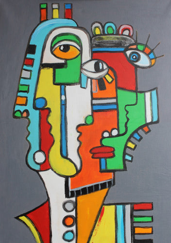 FRIENDS 3 / Original Canvas Painting - EXCLUSIVE TO KIKI STERLING GALLERY - By Arman Alaverdyan