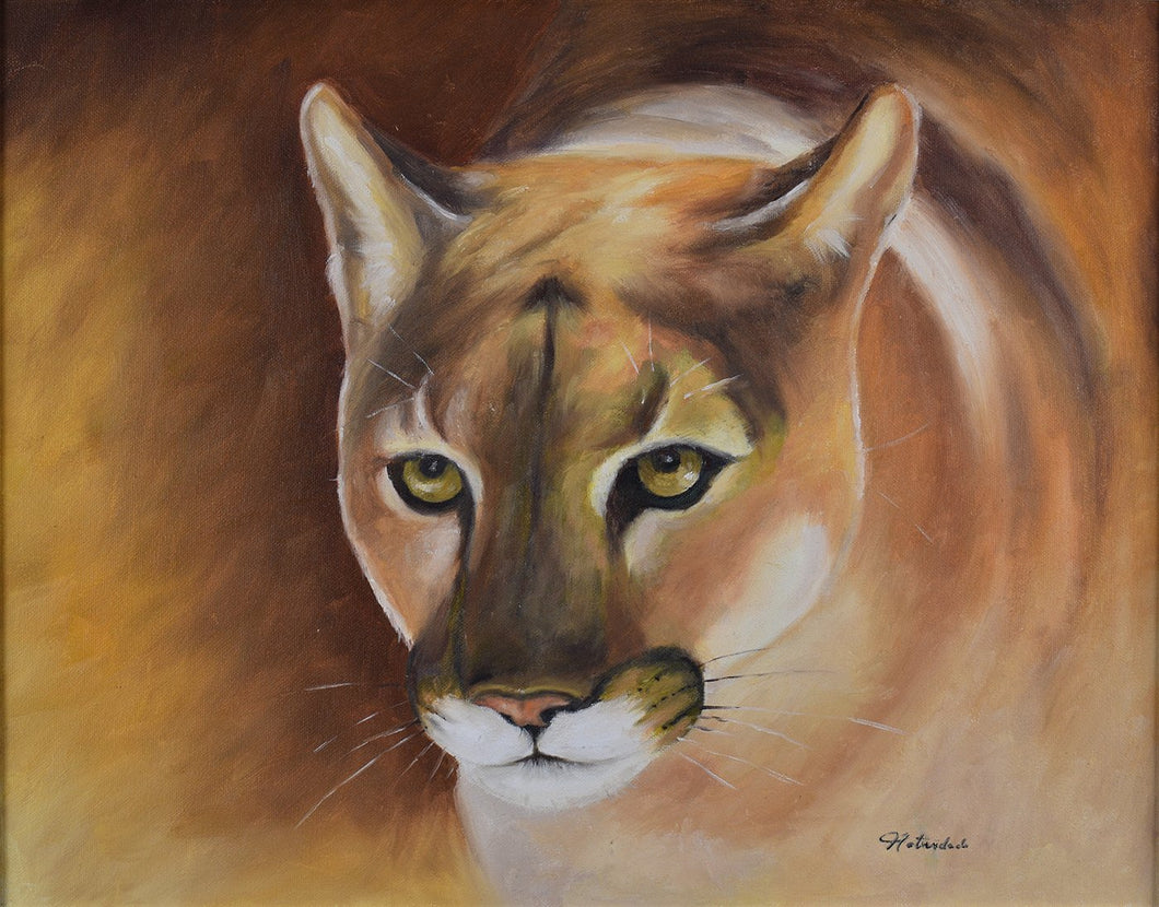 COUGAR  / Original Canvas Painting - By Natty Pacheco