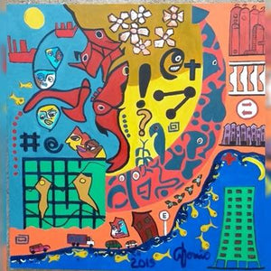 URBAN CHAOS/ CAOS URBANO /  Original Canvas Painting - By Antonio Souza