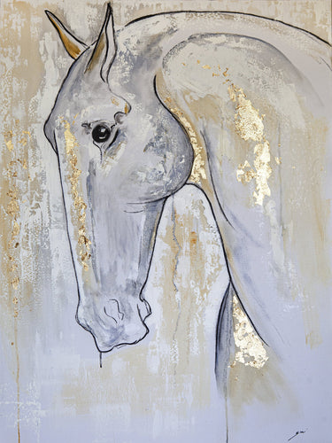 THE HORSE / Original Canvas Painting - By Zari Kazandjian