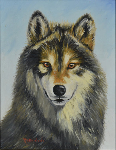 THE WOLF / Original Canvas Painting  - By Natty Pacheco