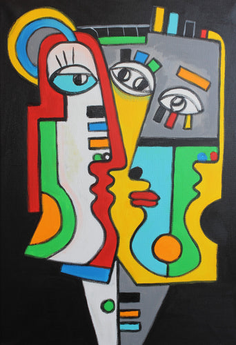 FRIENDS 2 / Original Canvas Painting EXCLUSIVE COLLECTION FACES - By Arman Alaverdyan
