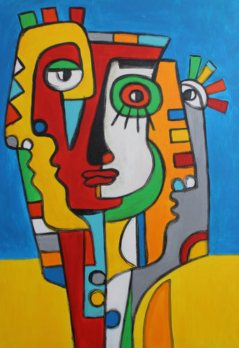 FRIENDS 1 / Original Canvas Painting EXCLUSIVE- FACES COLLECTION - By Arman Alaverdyan