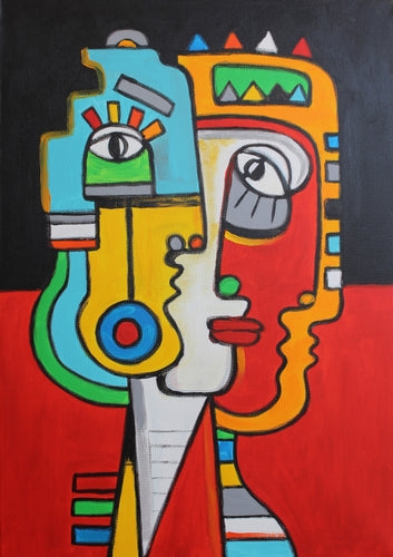 FRIENDS / Original Canvas Painting EXCLUSIVE TO KIKI STERLING GALLERY - By Arman Alaverdyan