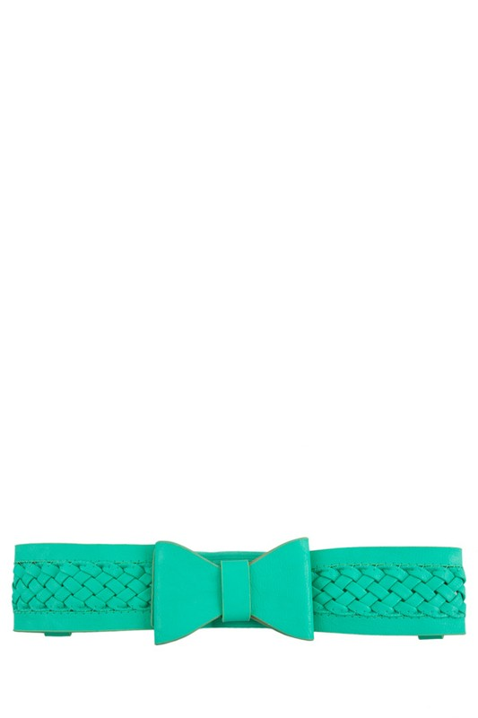 Briaded Bow Belt Mint