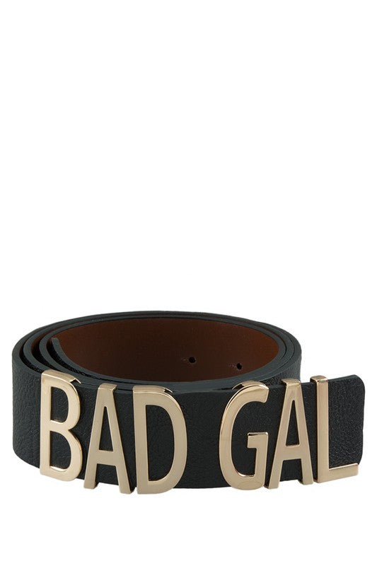 Bad Gal Faux Leather Belt