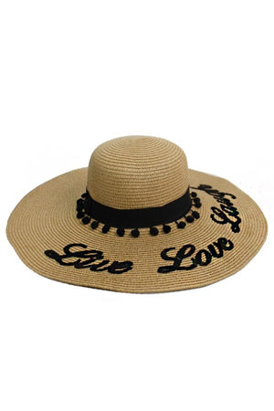 Live Love Laugh Floppy Sun Hat Red