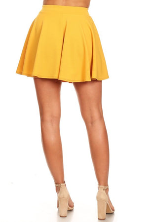 The Sass Skater Skirt Yellow