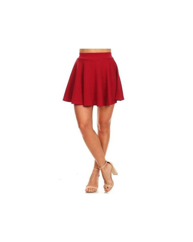 The Sass Skater Skirt Rust