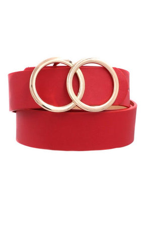 Ring my Bell Faux Leather Belt Orange
