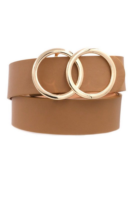 Ring my Bell Faux Leather Belt Tan