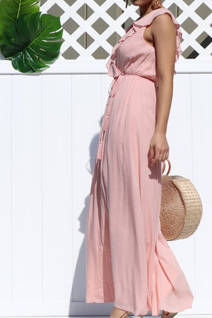 Forever Yours Dress Ruffle Maxi Dress