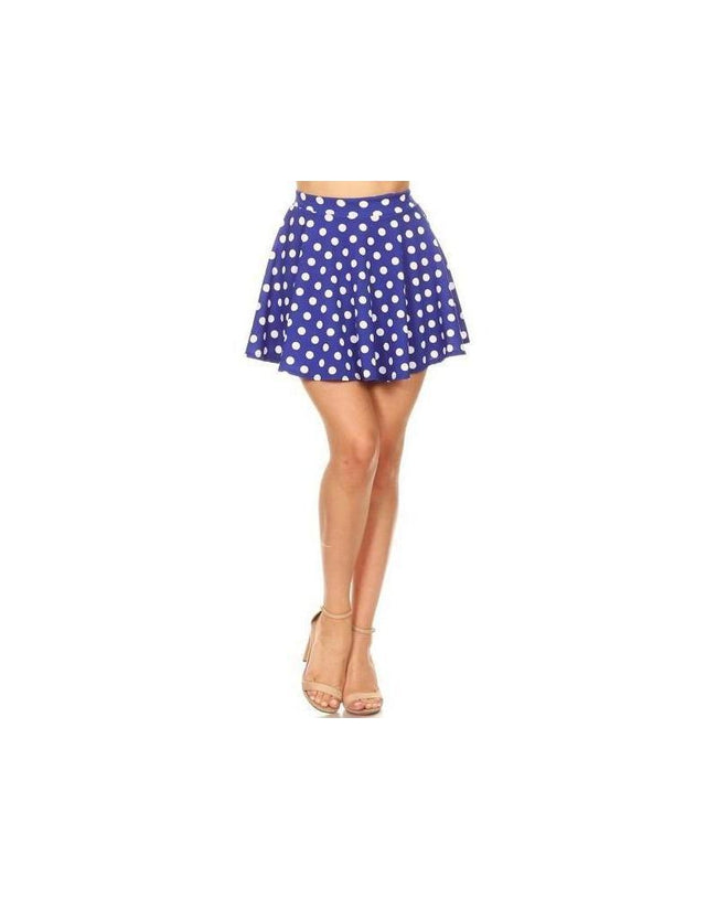 The Sass Skater Skirt Blue