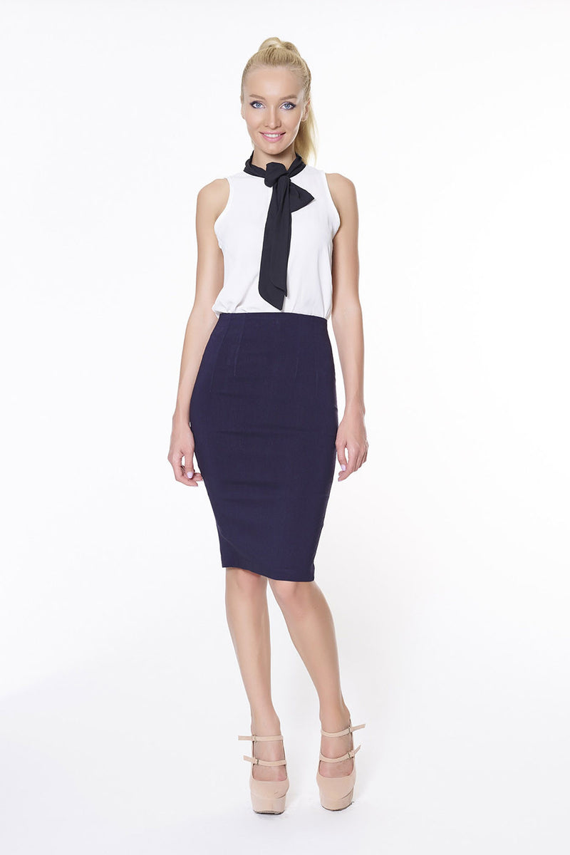 Joan Skirt - Navy Blue