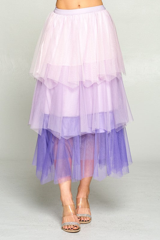 Dreams Come True Layer Skirt Lavender