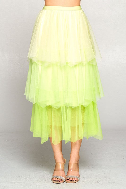 Dreams Come True Layer Skirt Green