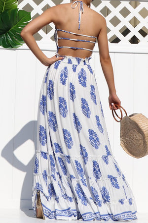 Feeling Butterflies Smoked Maxi Dress  White