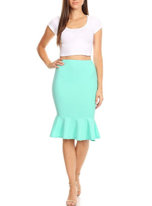 Mermaid Skirt Tan