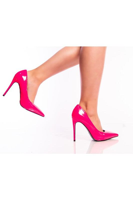 Step Up Your Game Heels Fuchsia