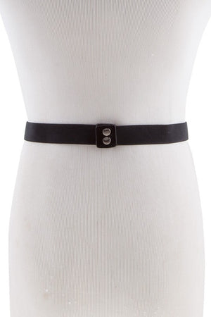 Betty Bow Belt White