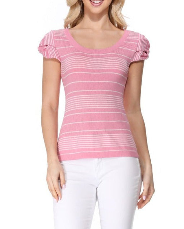 No Worries Scoop Neck Top Pink
