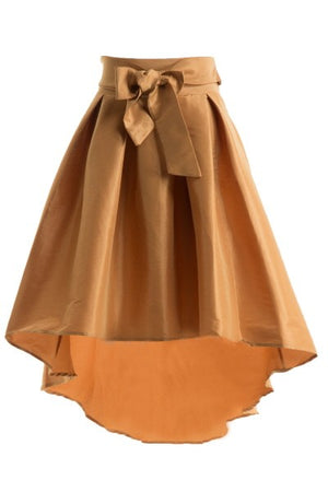 Diamonds Are Forever High Low Skirt Tan