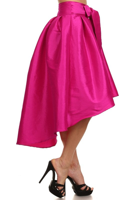 Diamonds Are Forever High Low Skirt Fuchsia