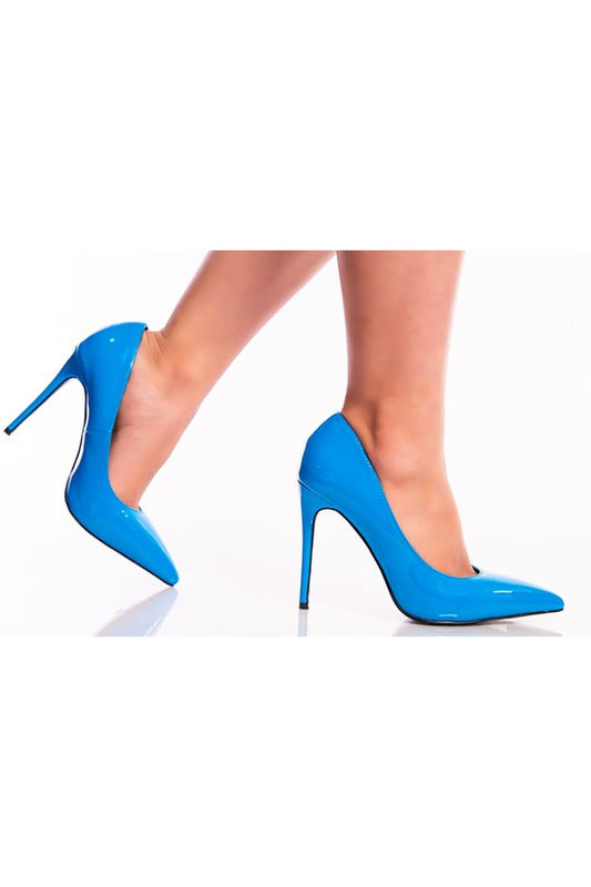 Step Up Your Game Heels Corn Blue