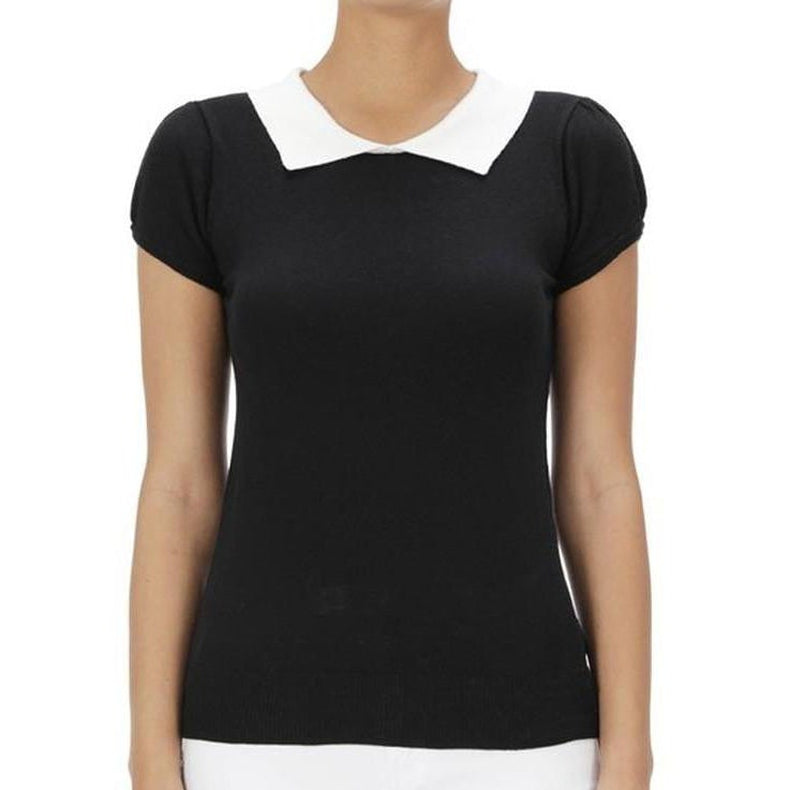 All You Need Classic Collar Top Black