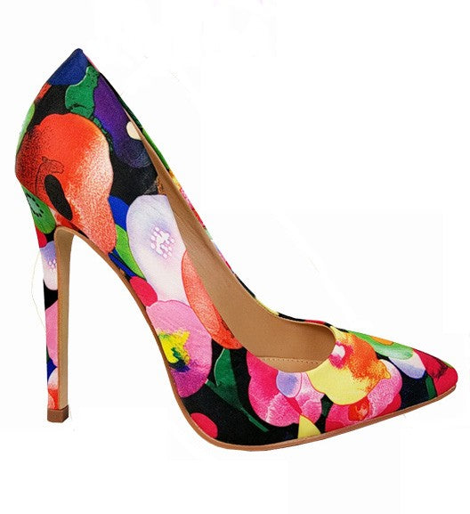 I Dream In Florals Heels Orange
