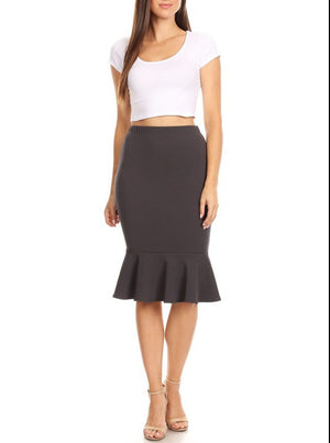 Mermaid Skirt Gray