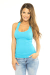 Lace Tank - Blue-Grey