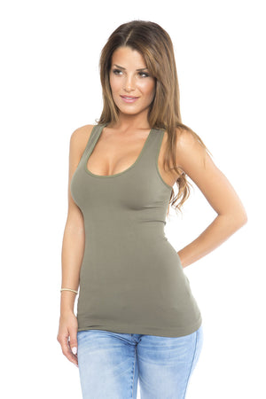 Lace Tank - Olive