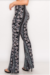 Bell Bottom Paisley Pant Navy