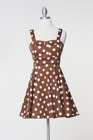 Merry Marilyn Dress - Brown