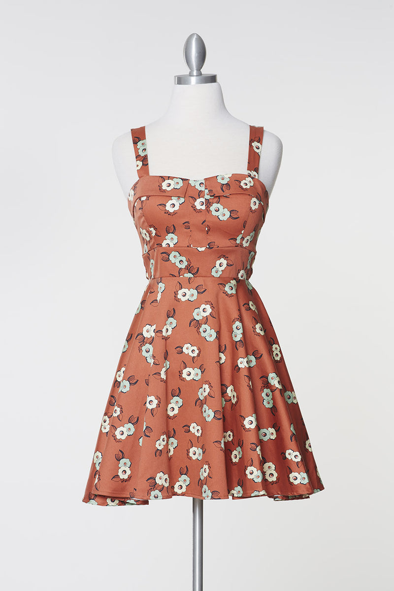 Retro Floral Marilyn Dress