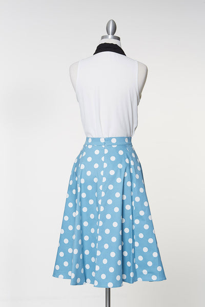 Fashion Frenzy Midi Skirt - Sky Blue