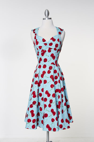 Move Over Claire Dress - Blue Cherry