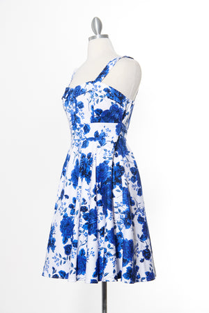Endless Floral Marilyn Blue Dress